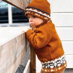 Bluum strikk - Genser og lue med Pingviner i Pure Eco Baby Wool