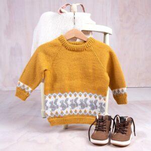 Bluum strikkegenser - Ekorn i Pure Eco Baby Wool