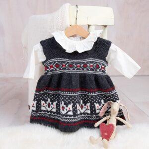 Bluum strikkekjole - Krone-stakken i Pure Eco Baby Wool
