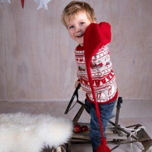 Bluum strikk - Julegenser 4 frg og nisselue i Soft Merino Ull