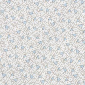 """UNO kortbukse i mønster """"Sandskjell"""" - lyseblå"""