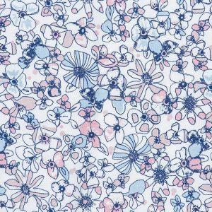 """SOL sett i mønster """"Blomstereng"""" - rosa"""