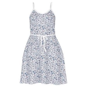 """LONE kjole i mønster """"Blomstereng"""" - rosa"""