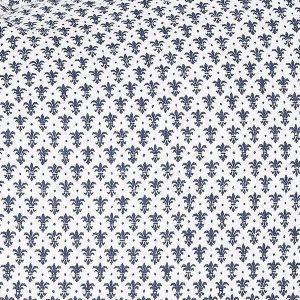 """AGNETE dobbeldyne i mønster """"Krone"""" - mørk blå 200x220"""
