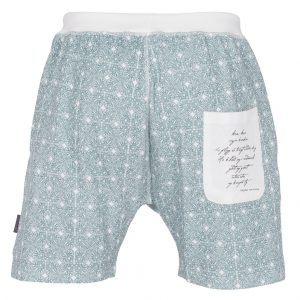 """DIDRIK shorts i mønster """"Vaffel"""" - blå"""