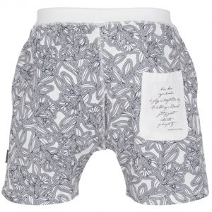 """DIDRIK shorts i mønster """"Håndtegnet"""" - mørkeblå"""