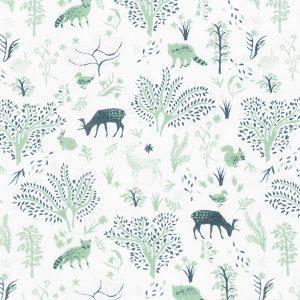 """EMILIE nattkjole i mønster """"Harmoni"""" - grønn"""
