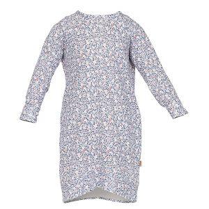 """UMA kjole i mønster """"Mose"""" - blå"""