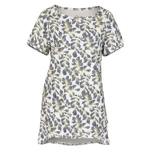 """JANNE t-skjorte i mønster """"Løvfall"""" - blå"""