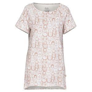 "JANNE t-skjorte i mønster ""Matrjosjka"" - rosa"