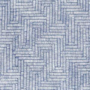 """EMIL bukse i mønster """"Ultra"""" - blå"""