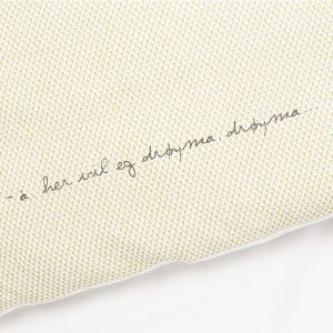 "AMALIE sengetøy i mønster ""Krone"" - gylden 140x220 2.0"