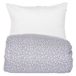 """AMALIE sengetøy i mønster """"Mose"""" - blå 140x220"""