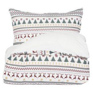 """AMANDUS sengetøy i mønster """"Julestrikk"""" 140x200"""