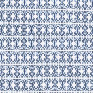 """AMANDUS sengetøy i mønster """"Etikette"""" - blå 140x200"""