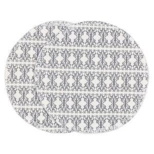 "ASTRID ammeinnlegg i mønster ""Etikette"" - grå skifer"