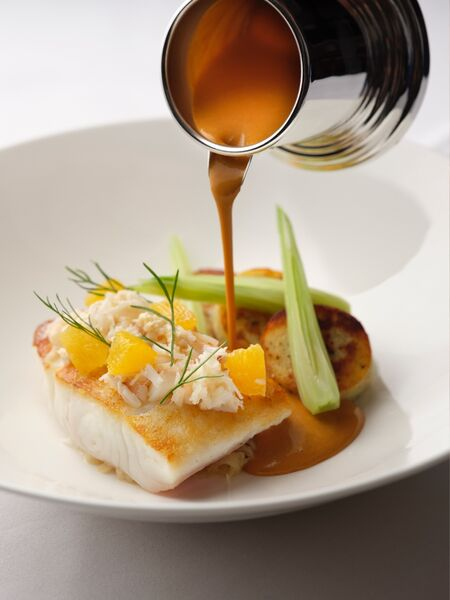 The Colony Grill Room Halibut Crab Bisque