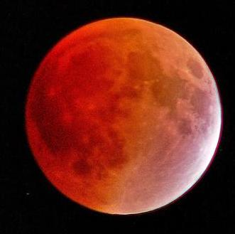 """Lunar eclipse, also known as a """"Blood Moon"""""""