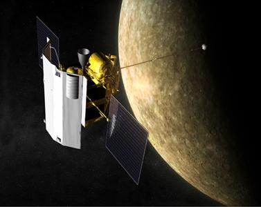 Messenger at Mercury. Credit: NASA/Johns Hopkins University Applied Physics Laboratory/Carnegie Institution of Washington