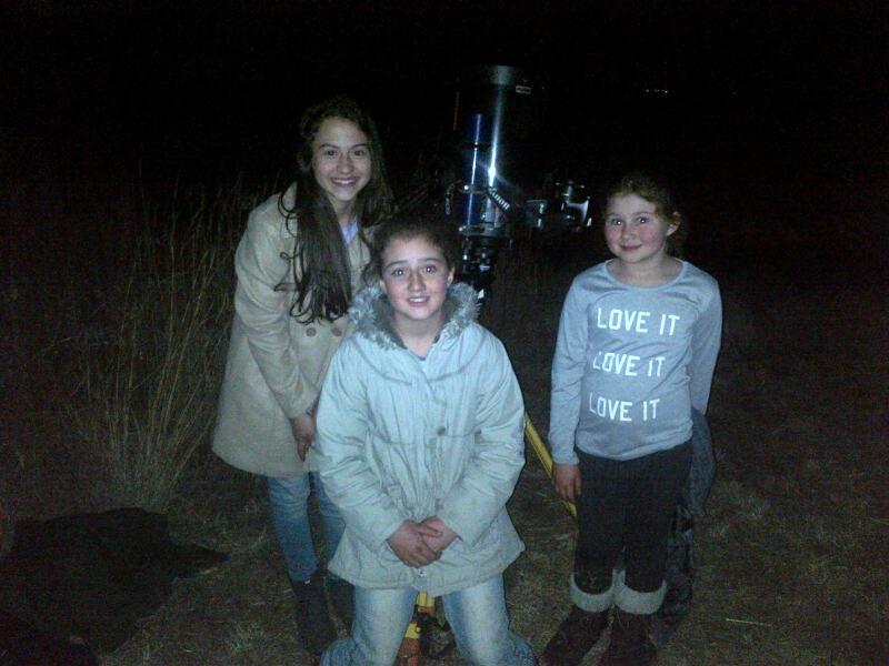 kids at light-pollution talk