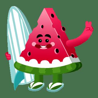 Watermelon Surfer