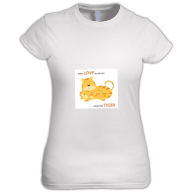 Women's T-shirt - Save the Tiger Small logo