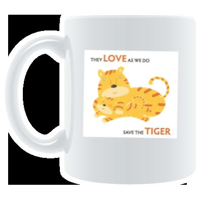Save the Tiger mug