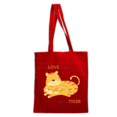 Bag Save the Tiger big logo transparent