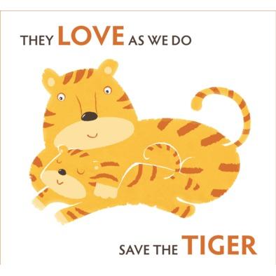 Men's T-shirt Save the Tiger big logo transparent>