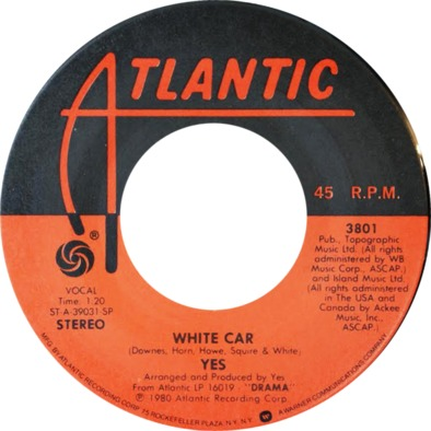 Yes White Car Label>