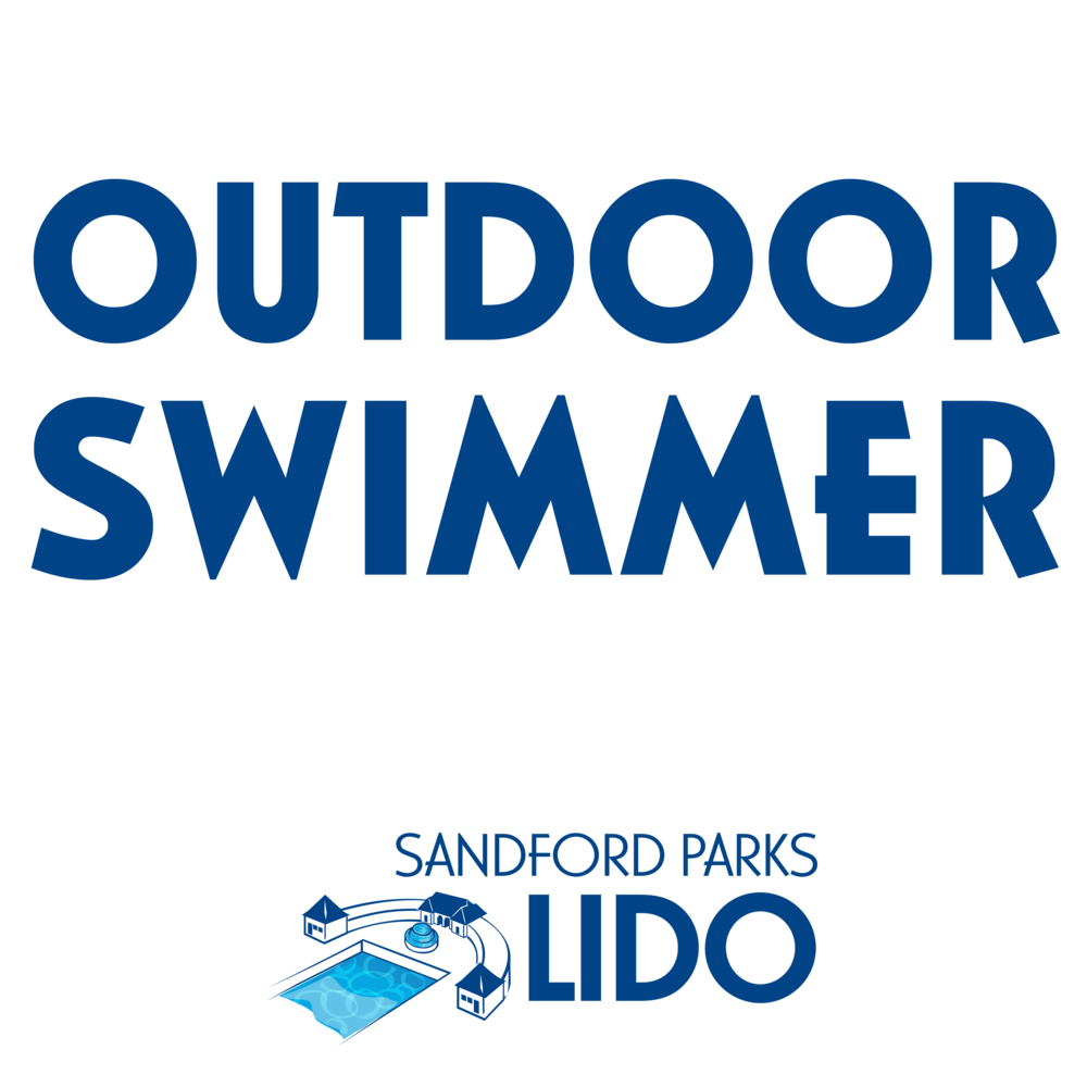 Outdoor swimmer with logo>