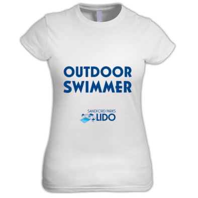 Outdoor swimmer with logo
