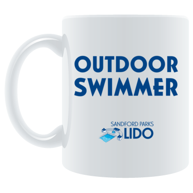 Outdoor swimmer with logo mug