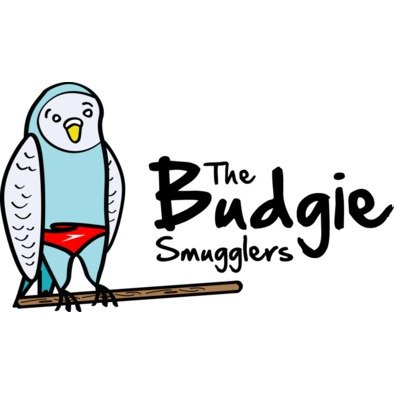 The Budgie Smugglers - T Shirt with colour logo>