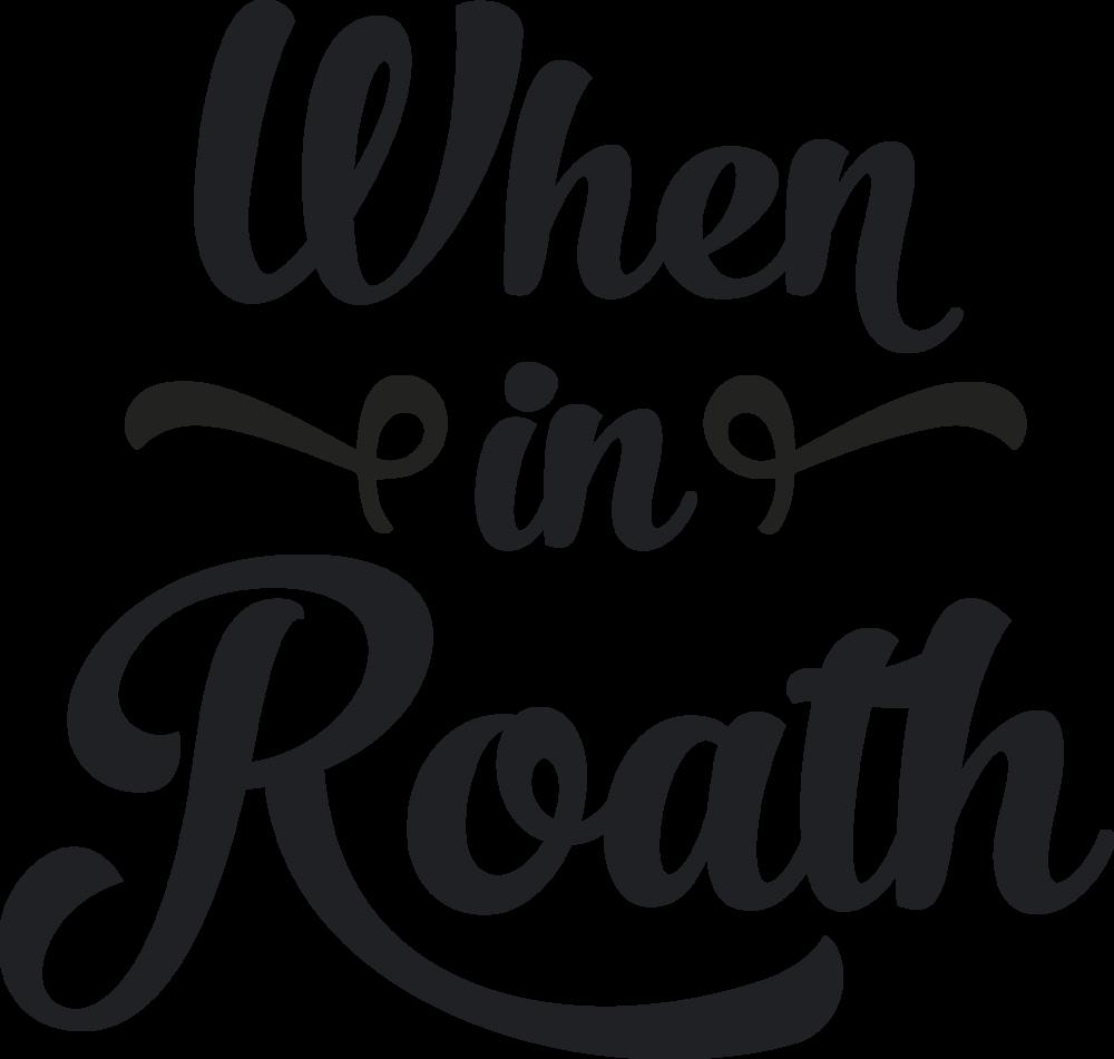 When in Roath (Black Logo)>