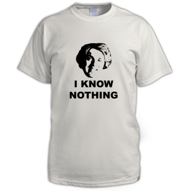 I Know Nothing Alternative - Men's T-Shirt