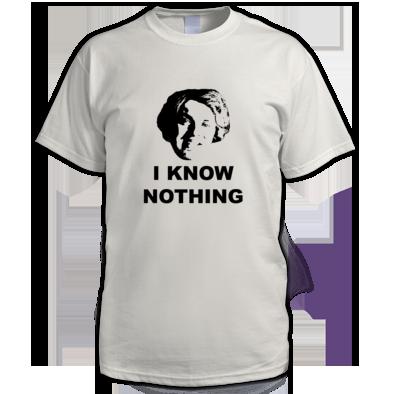 I Know Nothing Alternative - Men's T-Shirt