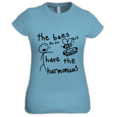 Bees Have Harmonicas - Women's T-Shirt