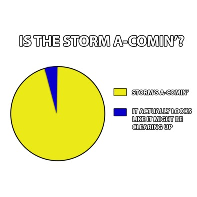 STORM'S A-COMIN' - Men's T-Shirt