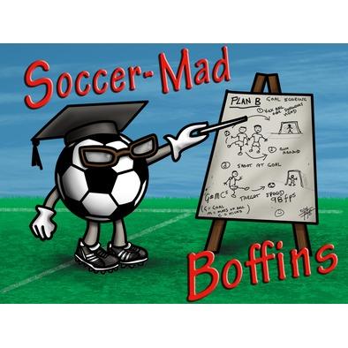 Soccer Mad Boffins Tote Bag