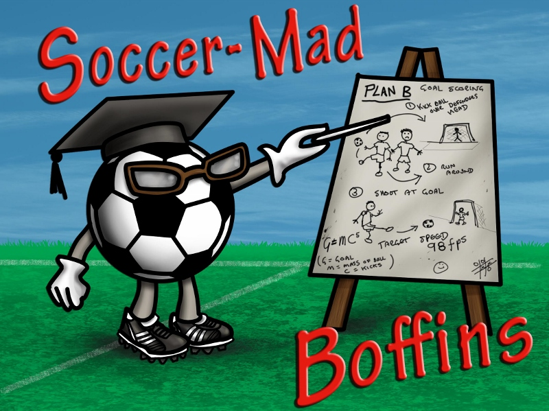 Soccer Mad Boffins Ladies Fitted T-shirt>