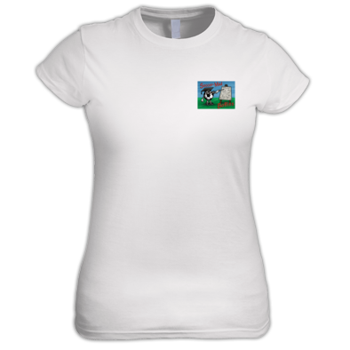 Soccer Mad Boffins Ladies Fitted T-shirt
