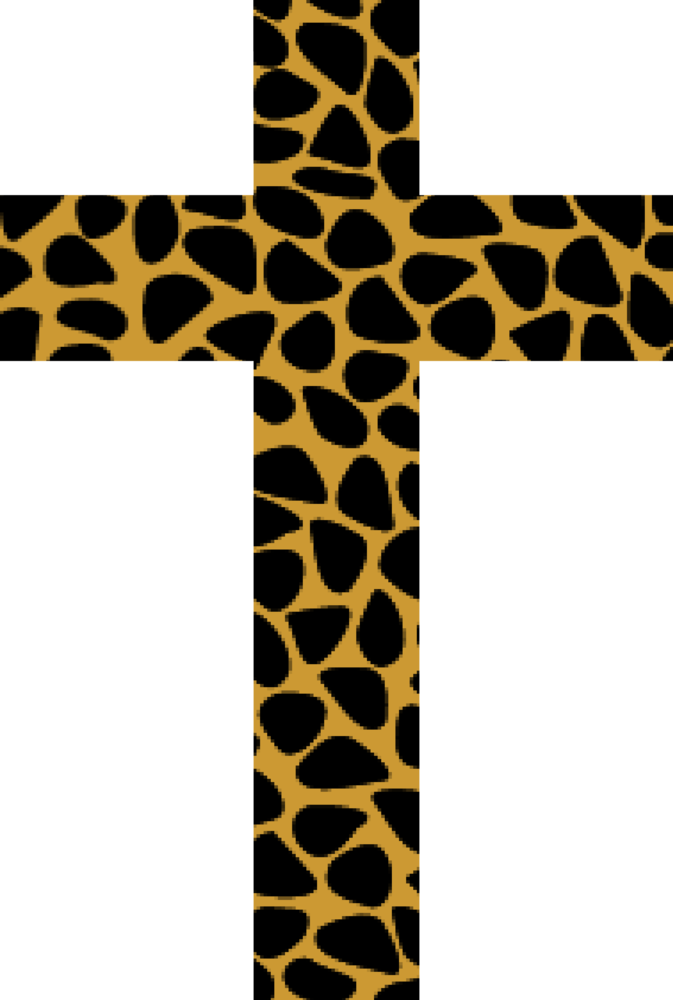 Leopard Print Cross>