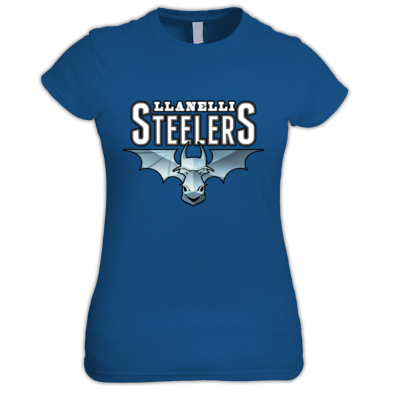 Llanelli Steelers Women's Tee (Blue Steel Logo)
