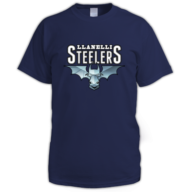 Llanelli Steelers Men's Tee (Blue Steel Logo)
