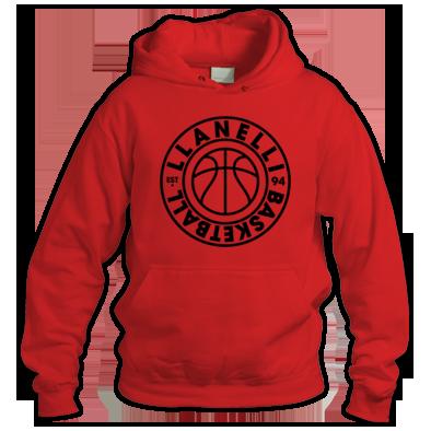 Llanelli Basketball Vintage Hoodie (Black Version 01)