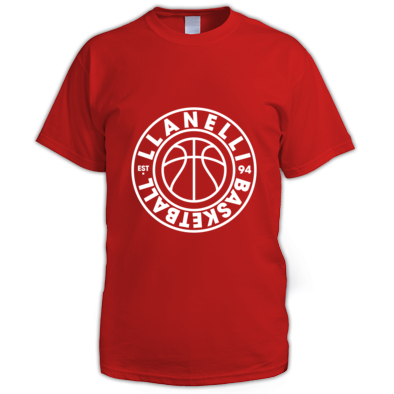 Llanelli Basketball Vintage Men's Tee (White Version 01)