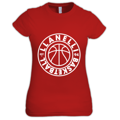 Llanelli Basketball Vintage Women's Tee (White Version 01)