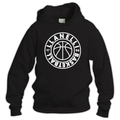 Llanelli Basketball Vintage Hoodie (White Version 01)