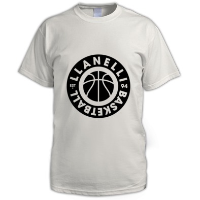 Llanelli Basketball Vintage Men's Tee (Black Version 02)